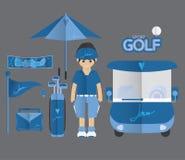 Golfowa ikona royalty ilustracja