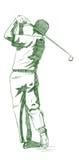 golfowa pozy zamach Fotografia Royalty Free