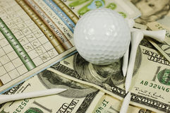 golfowa scena Obrazy Stock