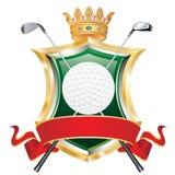 golfowa sztandar czerwień ilustracja wektor