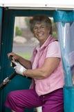 golfowa wózków kobieta Obrazy Stock