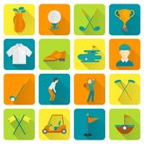 Golfowe ikony ustawiać Obraz Royalty Free