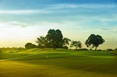 golfowe zielenie Zdjęcia Royalty Free