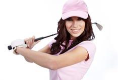 golfowego gracza kobieta fotografia royalty free