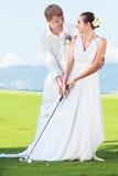 golfowy ślub Zdjęcia Royalty Free