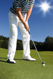 golfowy bawić się mężczyzna Zdjęcia Royalty Free