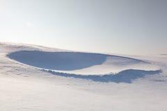 Golfowy bunkier pełno śnieg Zdjęcie Stock