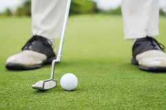 golfowy kładzenie Zdjęcie Stock