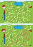 golfowy labirynt ilustracji