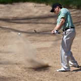 golfowy piłka golfista jego uderzenia Obraz Royalty Free