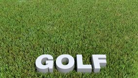 Golfowy texte 3D na trawie Obrazy Stock