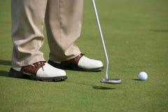 Golfowy turniej - golfowy gracz Zdjęcia Royalty Free