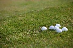 Golfowy turniej - piłki golfowe Fotografia Royalty Free