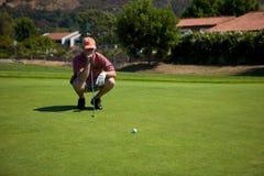 golfowy uderzenie zakańczające Obrazy Royalty Free