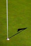GolfPin und Schatten Lizenzfreie Stockbilder