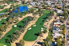 Golfplatz-Antenne Stockfoto