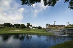 Golfplatz in Arizona Lizenzfreies Stockbild