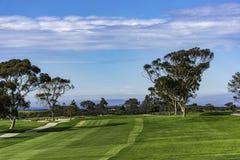 Golfplatz bei Torrey Pines La Jolla California USA nahe San Diego Lizenzfreie Stockfotos