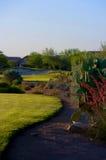 Golfplatz in der Arizona-Wüste stockfotos