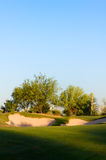 Golfplatz in der Arizona-Wüste Stockbild