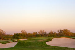 Golfplatz in der Arizona-Wüste Lizenzfreie Stockbilder