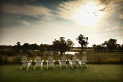 Golfplatz-Entspannung Stockfoto