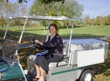 Golfplatz-Getränkewagen stockbild