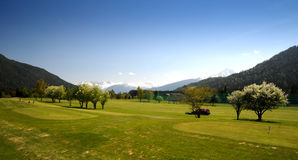 Golfplatz Golfacademy-Seefeld Royalty Free Stock Photo