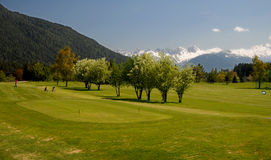 Golfplatz golfacademy-Seefeld Stock Afbeelding