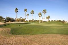 Golfplatz-Grün im Sun Stockfotos