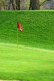 Golfplatz im Frühjahr Lizenzfreies Stockbild