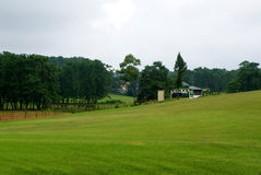 Golfplatz im Himalaja Lizenzfreies Stockfoto