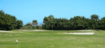 Golfplatz-Reihe Lizenzfreie Stockfotos