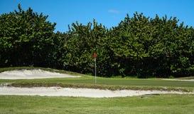 Golfplatz-Reihe stockfoto