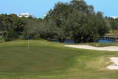 Golfplatz-Reihe stockbilder