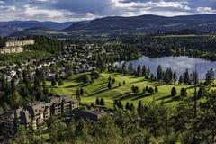 Golfplatz und Wohn- Unterteilung bei Shannon Lake im Okanagan-Tal West-Kelowna-Britisch-Columbia Kanada stockfoto