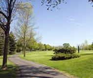 Golfplatz-Wagen-Pfad Lizenzfreies Stockfoto