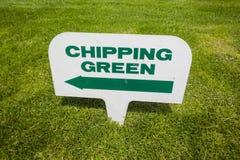 Golfplatz-Zeichen   Lizenzfreie Stockfotografie