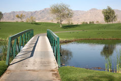 Golfplatzbrücke Stockfoto