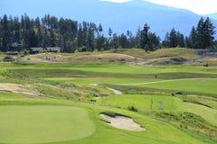 Golfplatzerholungsorte, Kanada-Reise Anschlagtafel oder vordere Abdeckung für Zeitschriften stockfotografie