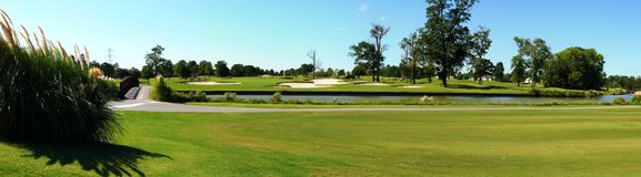 Golfplatzfahrrinne Lizenzfreies Stockbild