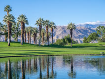 Golfplatzsonnenaufgang Stockfoto