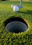 golfputt Arkivbild