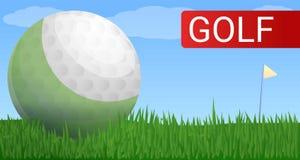Golfschalen-Konzeptfahne, Karikaturart vektor abbildung