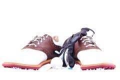 Golfschoenen Royalty-vrije Stock Foto