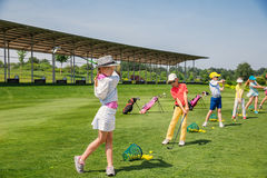 Golfschule Lizenzfreies Stockfoto