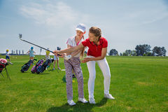 Golfschule lizenzfreie stockfotos