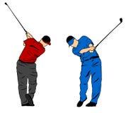 Golfschwingen Lizenzfreies Stockbild