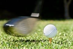 Golfschwingen Lizenzfreies Stockfoto