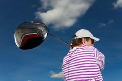 Golfschwingen lizenzfreie stockfotografie